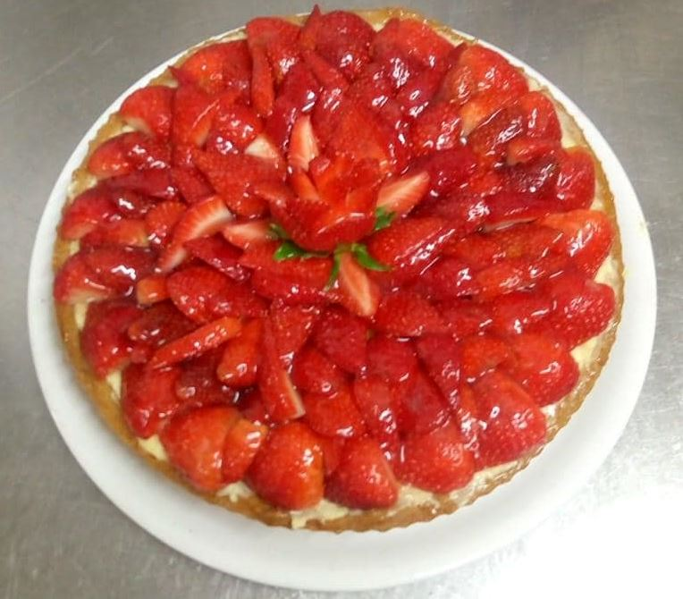Tar te aux fraises maison restaurant Montmartre