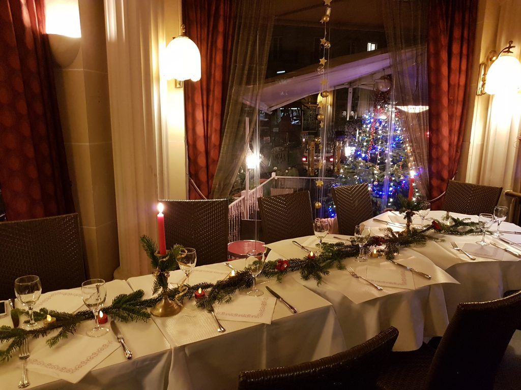 Restaurant Montmartre repas de fête Noël