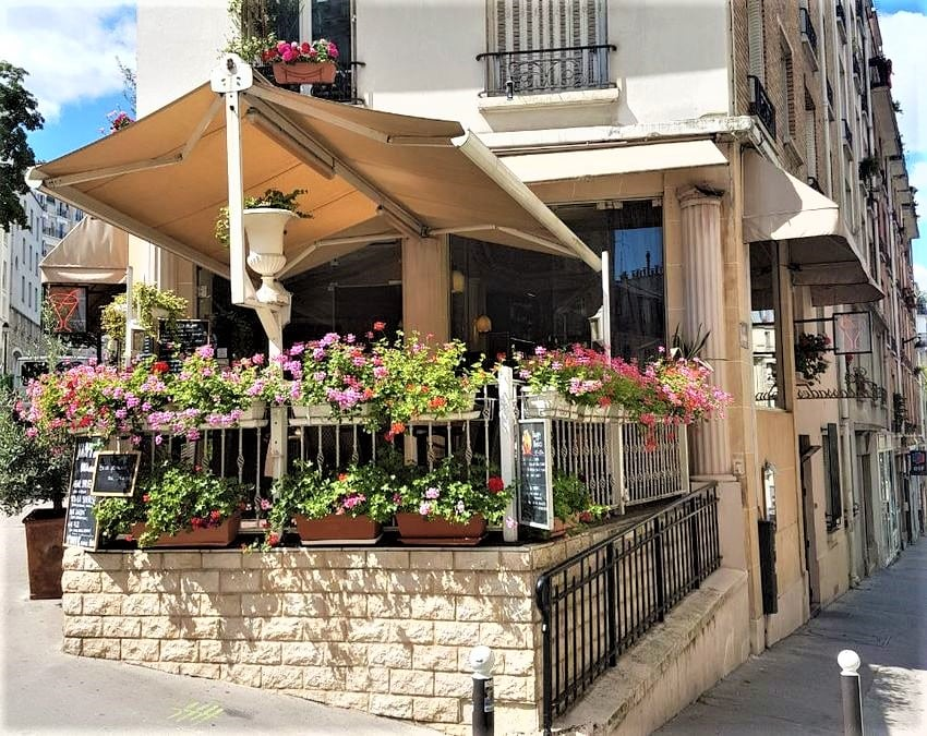 Restaurant terrasse Montmartre - carte et menus des Ambassades