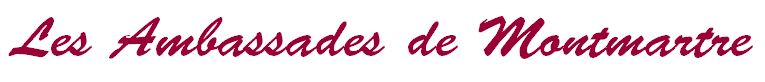 Restaurant groupe Paris 18 Butte Montmartre - bandeau Les Ambassades