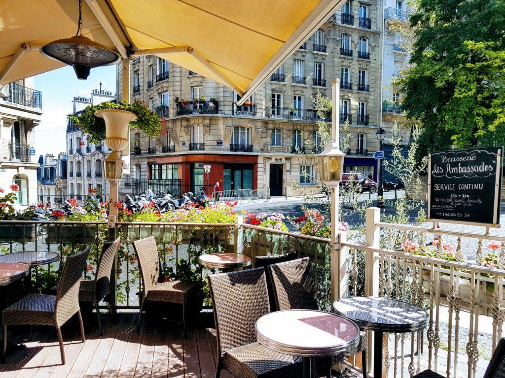 Bar terrasse restaurant Butte Montmartre Les Ambassades