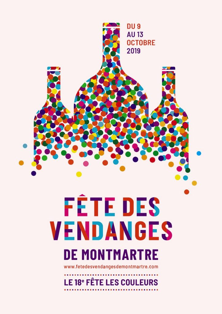 Fête des Vendanges de Montmartre affiche officielle - photo blog du restaurant Butte Montmartre Les Ambassades