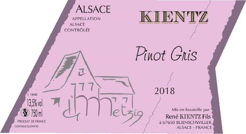 PINOT GRIS « La Metzig » 2018