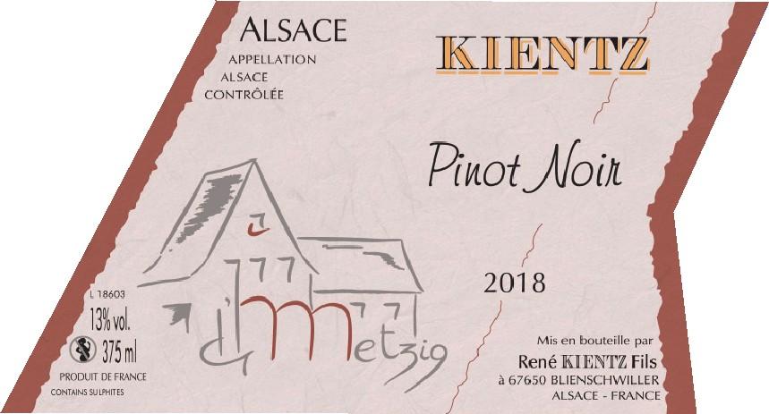 PINOT NOIR « La Metzig » 2018