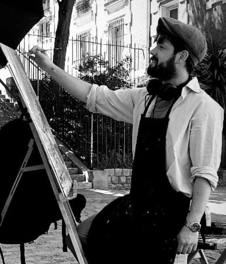 Alexandre Hassan artiste peintre montmartrois