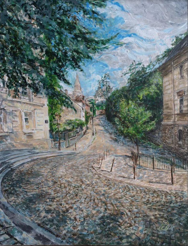 Dalida s'abreuva d'Alexandre Hassan - Exposition-vente consacrée à des peintures de Montmartre du 25 septembre au 25 novembre 2020 au restaurant Les Ambassades de Montmartre