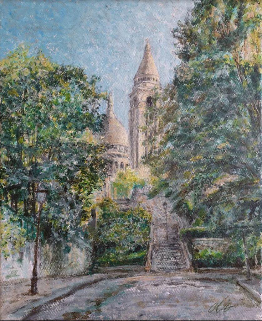 La Marque du Cœur d'Alexandre Hassan- Exposition-vente consacrée à des peintures de Montmartre du 25 septembre au 25 novembre 2020 au restaurant Les Ambassades de Montmartre